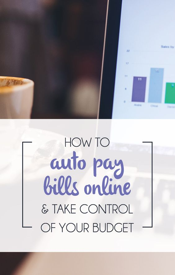 How do you pay bills online?