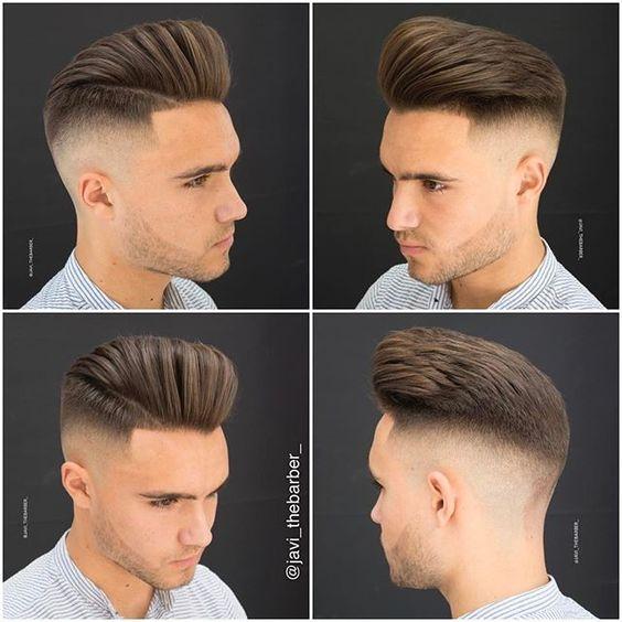 pompadour + fade haircuts for men