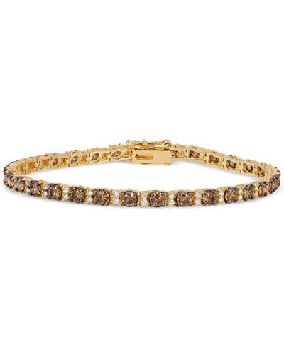 Le Vian? Chocolatier Diamond Tennis Bracelet (5-3/8 ct. t.w.) in 14k Gold | Shops, Photos and Pandora