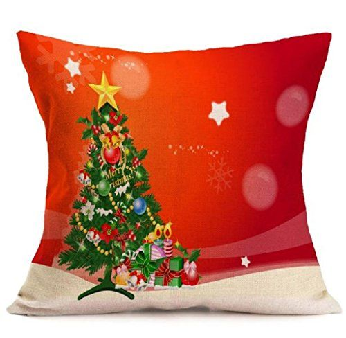 Rukiwa Christmas Cartoon Sofa Bed Home Decoration Festival Pillow Case Cushion Cover L *** For more information, visit image link.