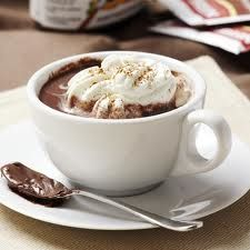 Here's a delicious twist for your Hot Chocolate... Stir in some Nutella.. a splash of Frangelico ...delightful! http://FourSeasonGourmet.com/nutella-hot-chocolate/