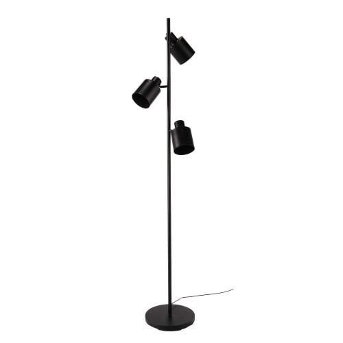 Staande Lamp Met 3 Spots Van Zwart Metaal Johnson Maisons Du Monde Staande Lampen Lampen Vloerlamp