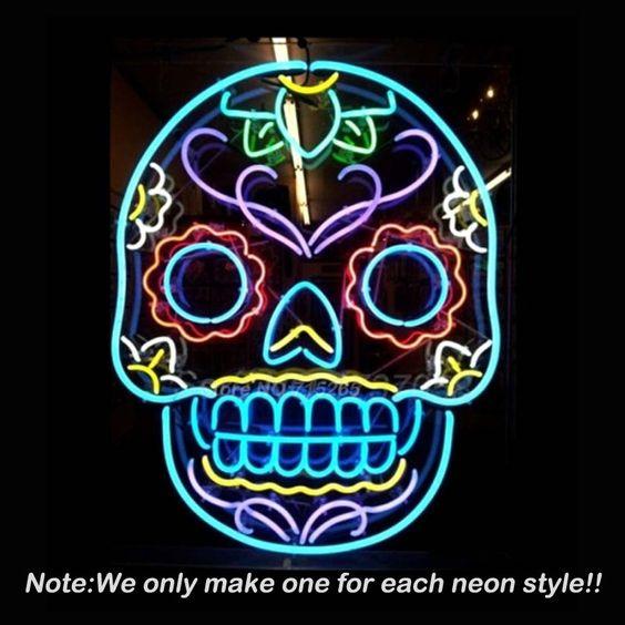 Tattoo Schedel Neon Sign Schedel Bier Pub Neon Lampen Kamer recreatie Windows Neon Signs Real Glazen Buis Handcraft Beste Geschenken 24x20 in  welkom om aangepaste ontwerp neon teken!Beer bar Pub Handgemaakt Echte Glazen BuisGROOTTE is24 '' x 20 &# van Neon lampen& buizen op AliExpress.com | Alibaba Groep