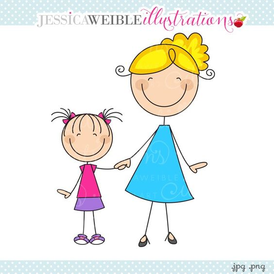clipart mother and daughter - photo #12