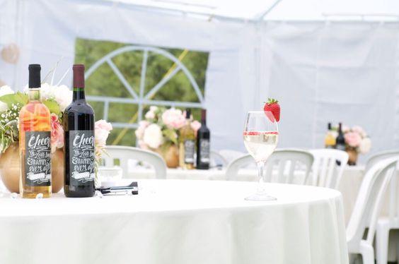 Outdoor wedding - centerpieces