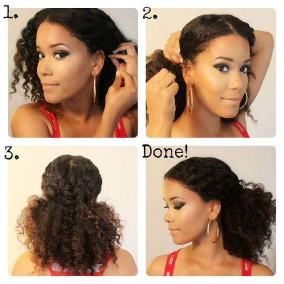 Pleasant Natural Hair Tutorials Middle Parts And Natural Hair On Pinterest Short Hairstyles For Black Women Fulllsitofus