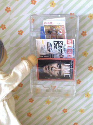 magazine rack from razor cartridge  Iemand nog wat scheermes verpakkingen in de aanbieding?