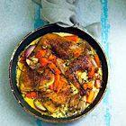 Kip gestoofd in witte wijn en crème fraîche met olijven en citroen - recept - okoko recepten