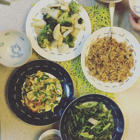 二人的日常晚餐我們是蔬菜國的