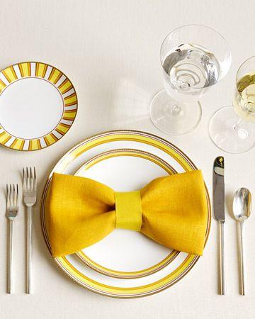 a bow tie napkin!