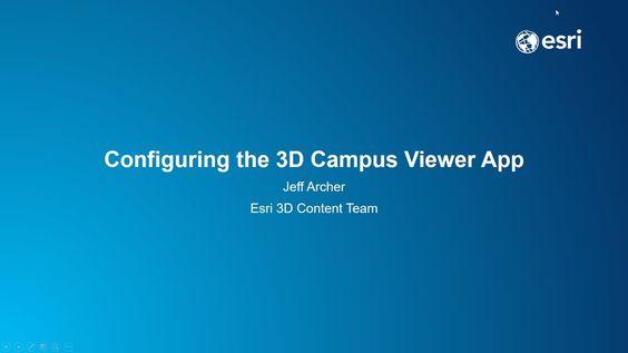 Configure the 3D Campus Viewer Web App