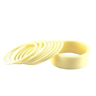 Vidhya Kangan  Fashionable Bangles  Color  White Bangles on Shimply.com