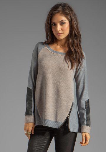 NANETTE LEPORE Medina Knit Taza Sweater in Pebble/Camel - Nanette Lepore
