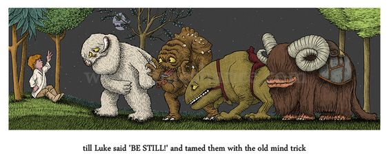 Where the Wild Things are redone with Star Wars creatures
