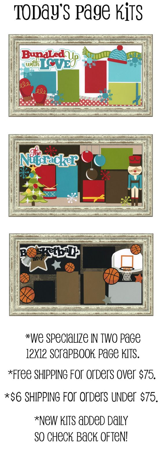 Scrapbook ideas no pictures - Layout