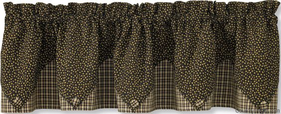 Cider Mill Pointed Curtain Valance By Park Designs At The