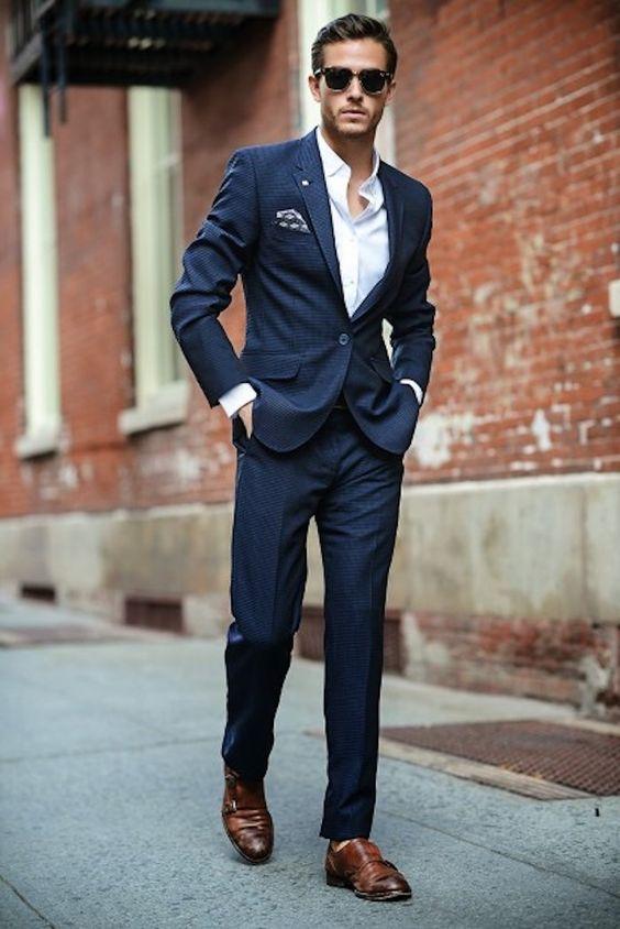 anzug farbe blau und braun kombinieren farbideen zum stil der städtischen mannes ideen