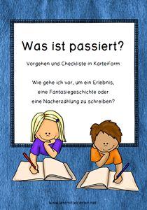Deutsch: Wie gehe ich vor bei Erzählungen von Erlebnissen und Fantasiegeschichten?