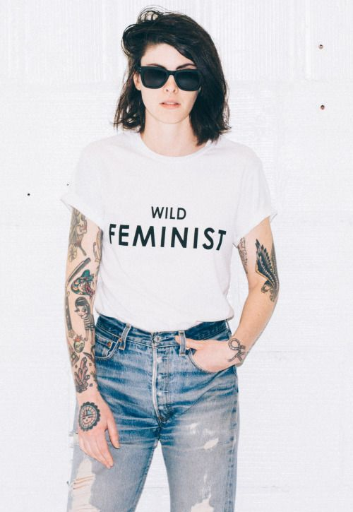 The Wild Feminist Tee via Wildfang >: