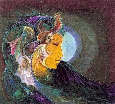Susan Seddon Boulet - Goddess Sedna alias « Sea Goddess » - date ? (couverture du calendrier Goddesses 2003)  Sedna, déesse amérindienne (inuit) de la mer et des mammifères marins
