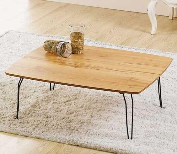 Slim Floor Table Folding Japanese Style Low Laptop Computer Solid Oak Coffee Table Floor Table Coffee Table