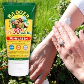Help a gardener protect their skin from the sun AND bugs with Badger Anti-Bug Sunscreen, via Solutions