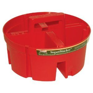 stackable bucket for legos with handle and seperate compartments