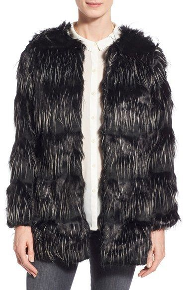 $129, Steve Madden Faux Fur Coat. Sold by Nordstrom. Click for more info: https://lookastic.com/women/shop_items/395535/redirect