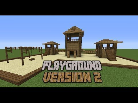 Minecraft How To Build A Playground Minecraft Buildings