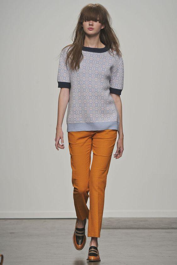 Spring 13: Karen Walker :D  Top!! Shoes!!