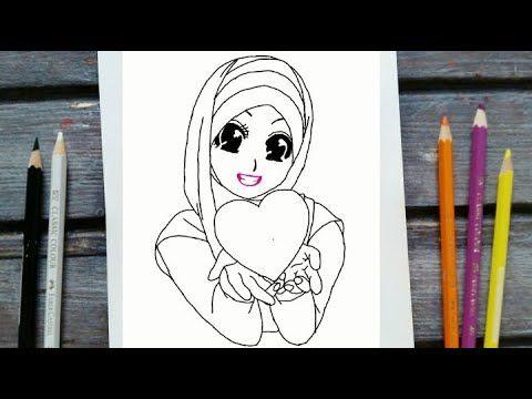 رسم سهل رسم فتاة محجبة للمبتدئين تعليم رسم بنت محجبة خطوة بخطوة رسم كيوت رسومات سهله وجميله Youtube Art Fictional Characters Character