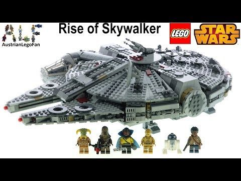 Lego Star Wars 75257 Millennium Falcon Rise Of Skywalker Edition Lego Speed Build Review Youtube Lego Star Wars Skywalker Lego War