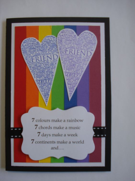 Friend S Spirits Make Friends Friendship Card Lift Letters My Handmade Cards Inside 7 The Ojays