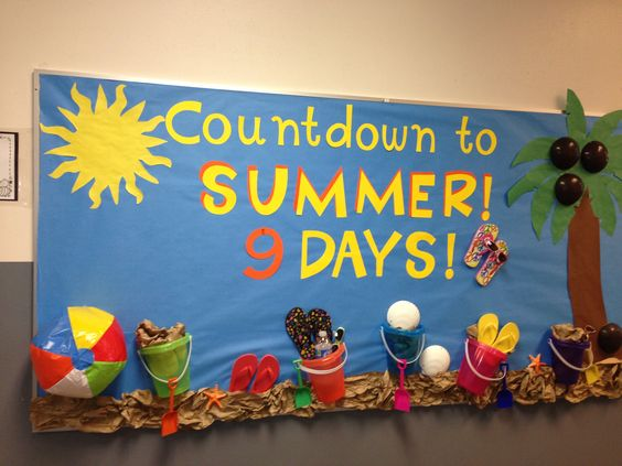 Summer Countdown Bulletin Board | Preschool ideas ...