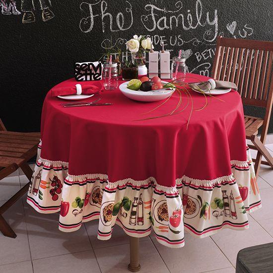 Mantel redondo verduras #cocina #comedor #mantel #hogar ...