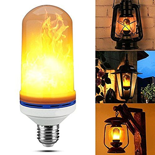 Led Bulbe Brulant Ampoule Led Lighting Flicker Flame Bulbs E27 1500k 4w Creative Lights Avec Scintillement Emulation Atmosphere Light Bulb Lamp Led Light Bulb