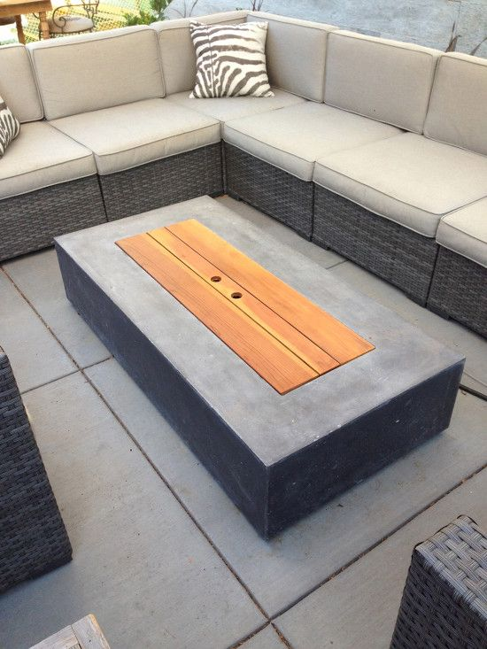Diy fire table insert to transform fire table into coffee for Concreteworks fire table