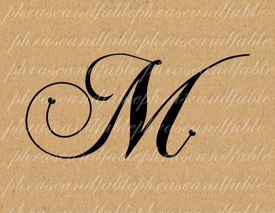 Hairstyle 6 Letters: Letter M Font Styles Letter M Hearts 283 Digital
