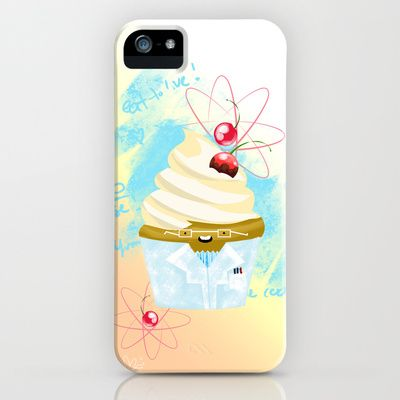 Are you a Cupcake Scientist? Foodie? Molecular Gastronomist? Let this smart sweetie help you concentrate on your next food adventure! FOR SCIENCE! Inspired by the show: Adventure Time! Bubblegum Series: Sucralose & Science iPhone Case by Micah Fenn - $35.00