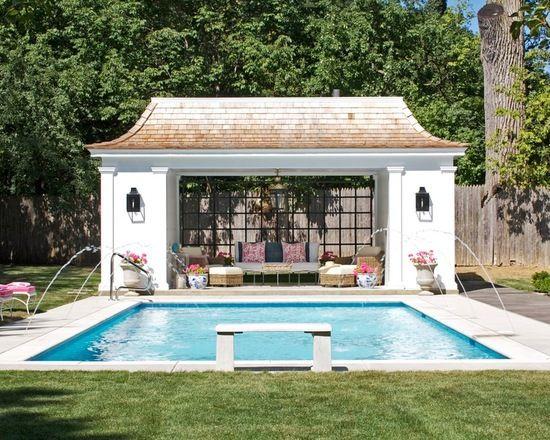 16 Lovely Pool Cabana Design Ideas Pool Houses Pool House Plans Backyard Pool