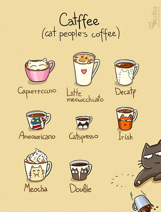 The one about catffeine  Coffee and cats have at least one thing in common: they both are oh so addictive! :3: