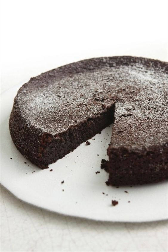 Chocolate olive oil cake, from Nigella. Absolutely delicious & incredibly quick & easy to make. I added a 1/2 tsp of ground dried chilli flakes for an extra, subtle, kick. It definitely got the Thumbs Up from my co-workers!