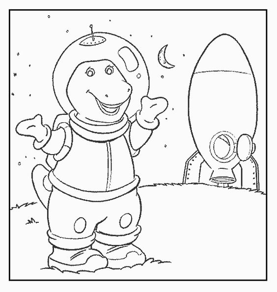 barneys christmas coloring pages - photo#12