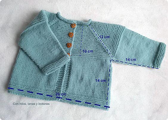 Con hilos, lanas y botones: DIY cómo hacer una chaqueta de punto para bebé: