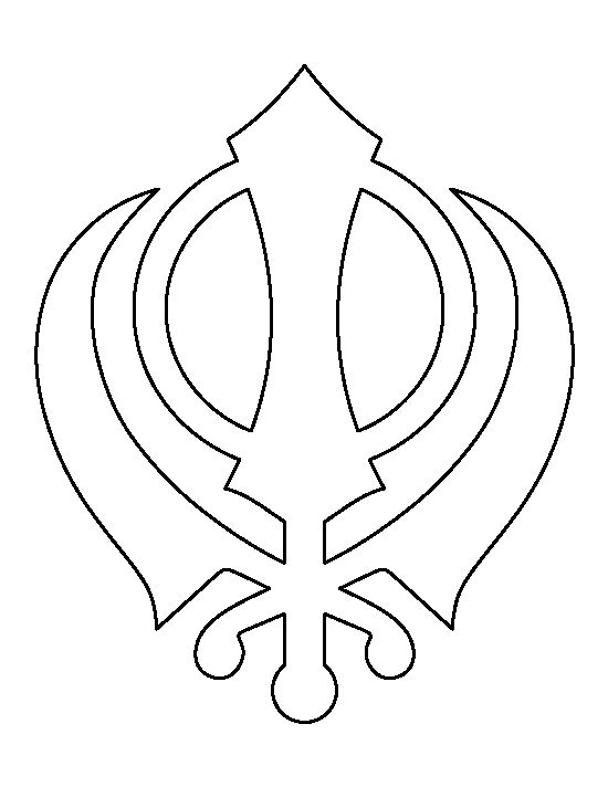 Khanda Pattern Use The Printable Outline For Crafts Creating