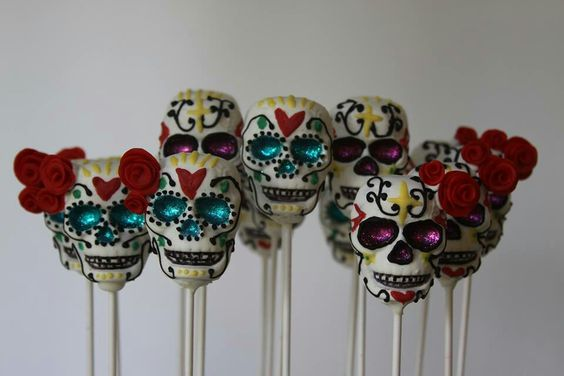 Day of the dead cake pops Now these would be a lot of work!: