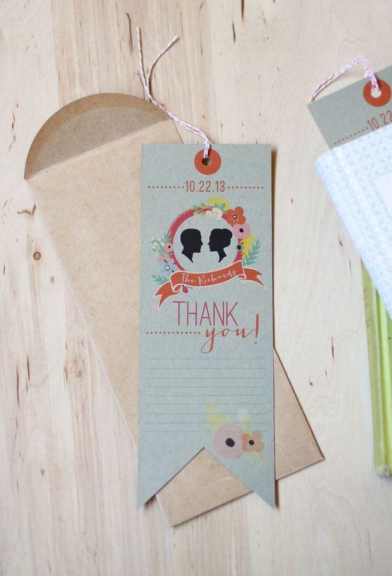 DIY wedding bookmark favor