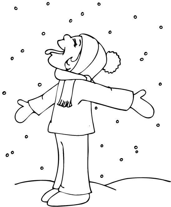 Catching Snowflakes In Winter Coloring Page Coloring Pages Winter Snowflake Coloring Pages Coloring Pages
