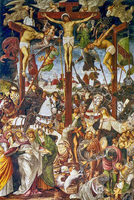 Gaudenzio Ferrari, Crocifissione, 1513, Affresco, Santa Maria delle Grazie, Varallo Sesia ( Vc ) - Italia Meravigliosa