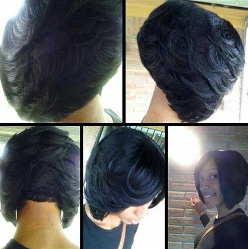 Awesome Bobs Black Women And Layered Bob Haircuts On Pinterest Hairstyles For Women Draintrainus